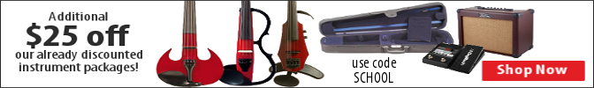 $25 off instrument packages