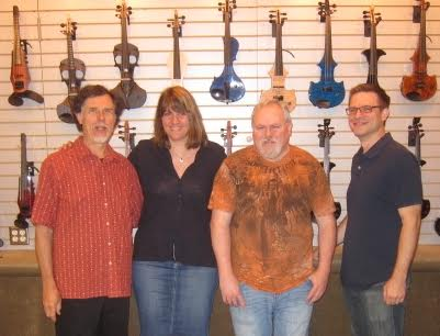 Blaise Kielar and the new Electric Violin Shop ownership team